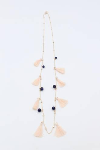 Winter Rose Tassel Necklace