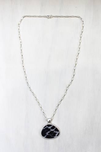 Cheetah Silver Pendant