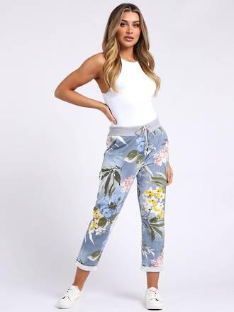 Denver Tropical Light Blue Trousers (10-14)
