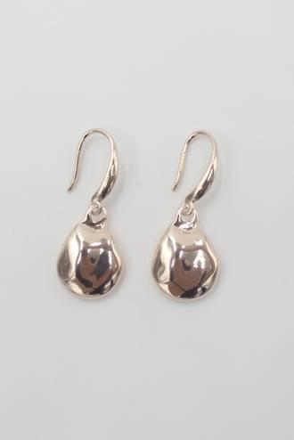 Dimple Drop Earrings Rose Gold