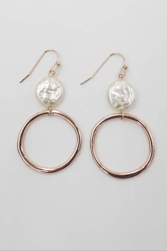 Harper Pearl Earring Rose Gold