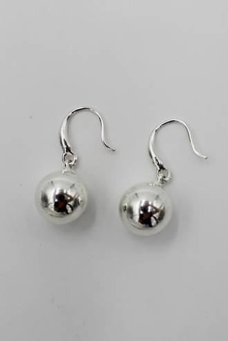 Luna Ball Earrings Silver