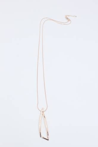 Twisted Triangle Necklace