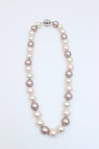 Dawn Pink Pearl Necklace