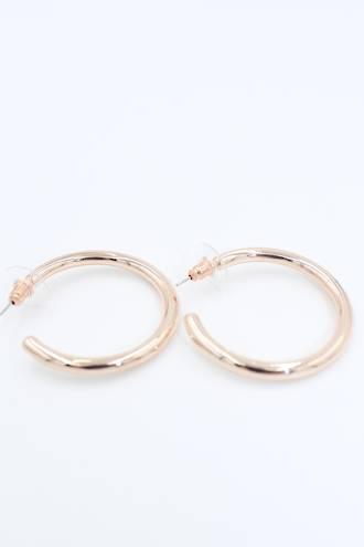 Ella Loop Rose Gold Earrings