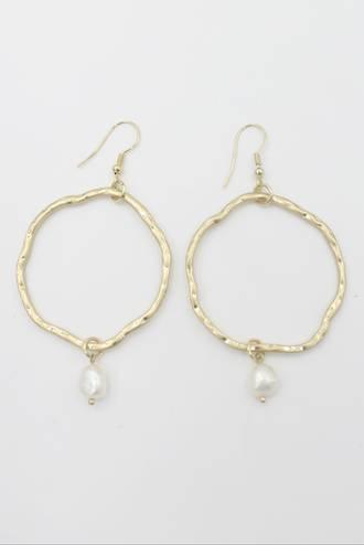Squiggle Pearl Earrings