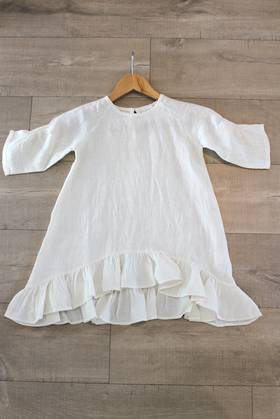 Madeline Cream Linen Dress 2-4 Years