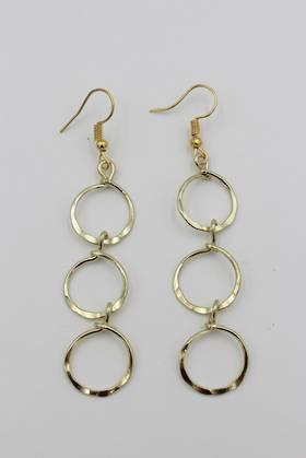 Ringlet Earrings Gold