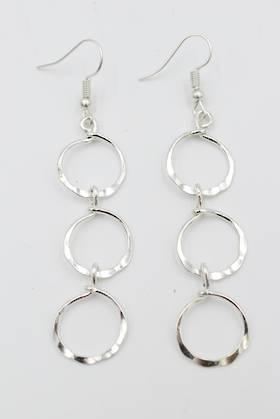 Ringlet Earrings Silver