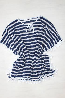 Monaco Stripe Blue Top