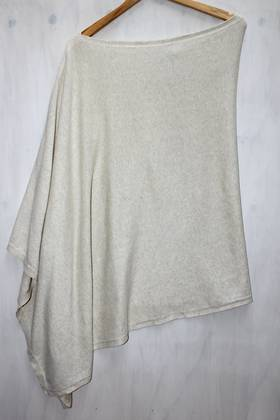 Almond Cotton Poncho