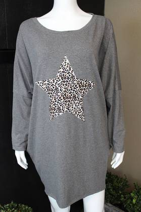 Astra Star Top - Dark Grey