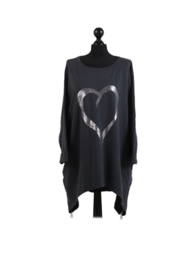 Romance Plus Size Sweater Charcoal