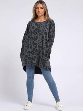 Jungle Cotton Sweater Charcoal