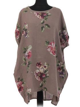 Adeline Mocha Linen Top/ Dress