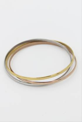 Tessa Triple Stainless Steel Bangle