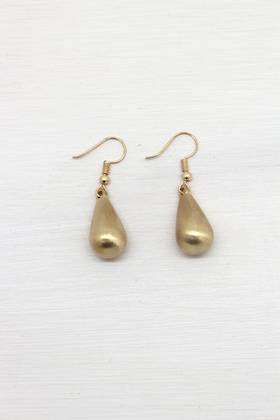 Misty Gold Drop Earrings