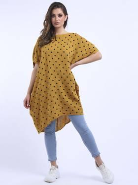Bianca Linen Spotted Dress Mustard