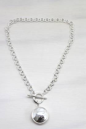 Seduction Silv Fob Necklace