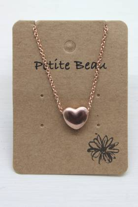 Petite Beau Stainless Steel  Heart Necklace