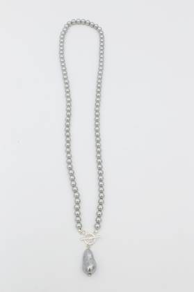 Nugget Grey Pearl Necklace