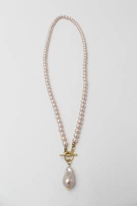 Nugget Pink Pearl Necklace