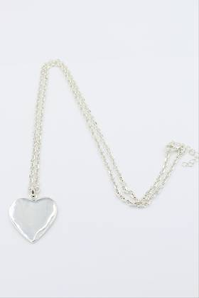 Milly Heart Necklace Silver