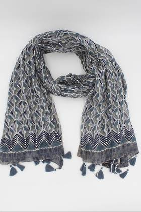 Mountain Peak Blue Scarf