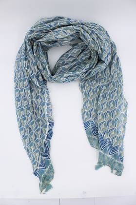 Mountain Peak Green Scarf