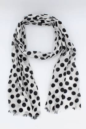 Ebony Spotted Scarf