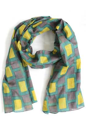 Woodland Yellow Scarf