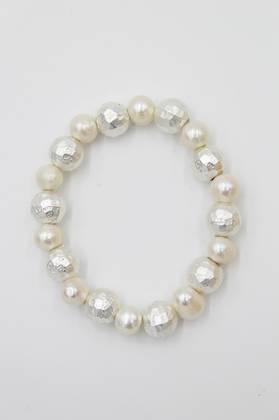 Pearly Silver Bracelet