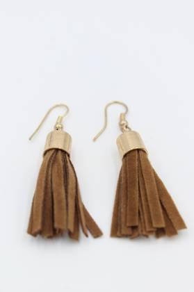 Chocolate Fringe Earrings