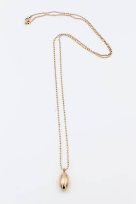 Rose Gold Stainless Steel Egg Pendant