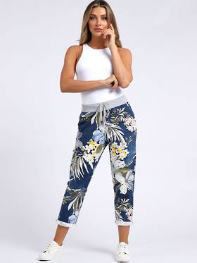 Denver Tropical Dark Blue Trousers (Size14-18)