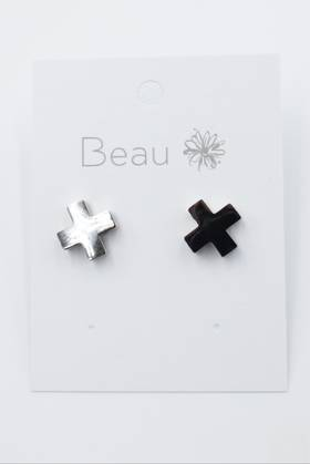Stainless Steel Cross Earring