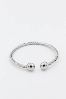 Coil Silver Bangle