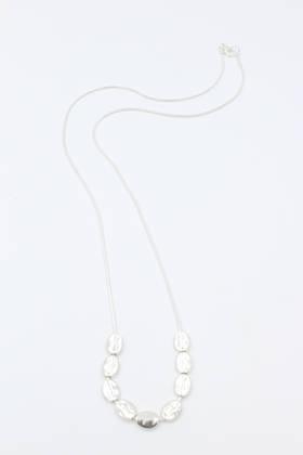 Pebble Silver Necklace