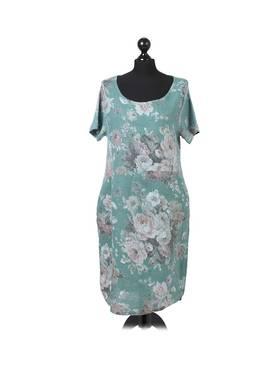 Fleur Linen Dress Pastel Spearmint