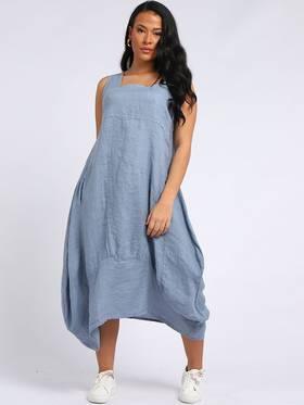 Gabriella Linen Dress Denim