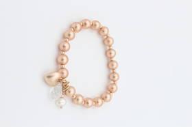 Baylee Pearl Rose Gold Bracelet