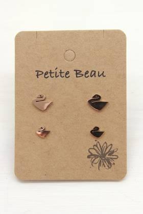 Petite Beau Swan Earrings