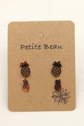 Petite Beau Pineapple Earrings