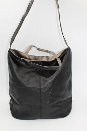 Tote Black & Pewter Reversible Handbag