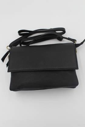 Taylor Black Leather Shoulder Bag