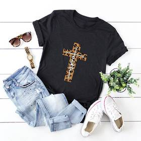Faith Cotton T Shirt Black 4 Pack (10,12,14,16)