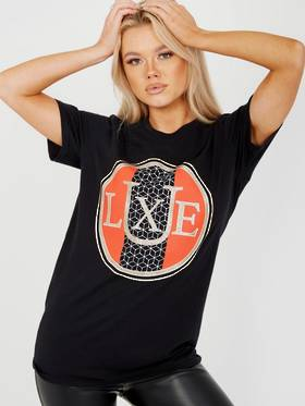 Luxe T Shirt Black  Pack Of 4  (S x1 M x2 L x1)