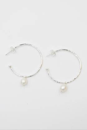 Pearl Loop Earrings
