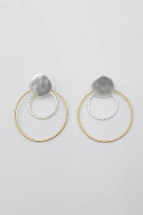 Nadia Two Tone Loop Earrings