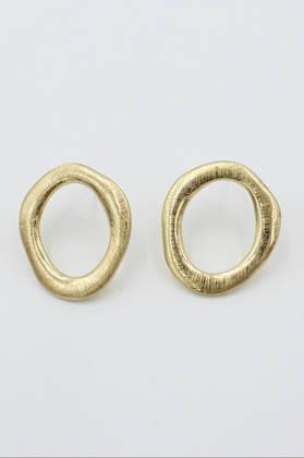 Mia Gold Circle Earrings